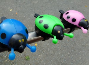 Ladybird Bell  (Assorted Colours) Only 1 Green, 1 Blue left